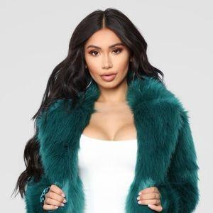 Fashion Nova brand new faux fur jacket